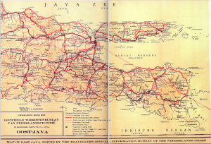 Colonial Map of Eastern Java